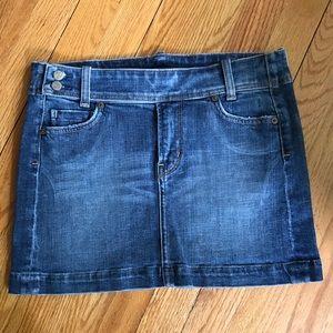 Citizens of Humanity belted denim mini skirt